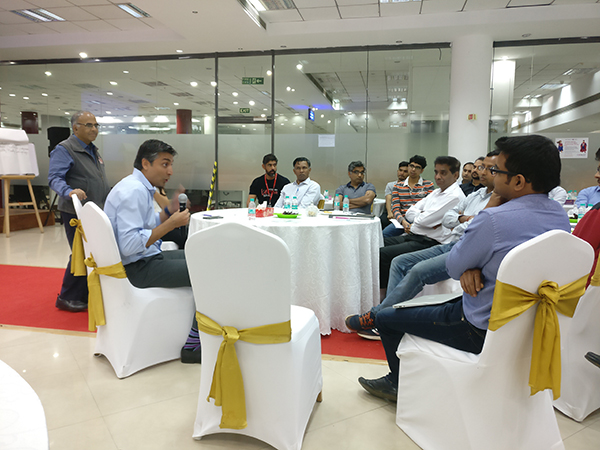 NASSCOM Chairman Rishad Premji interacts with startups in Bangalore
